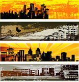 Moldes urbanos da bandeira do Web Fotografia de Stock