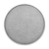 Moldes vazios para moedas ou medalhas com textura do metal Prata Imagens de Stock