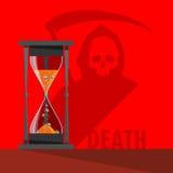 Moldes y muerte del reloj de arena del vector Imagenes de archivo