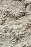 Molding clay flowers Stock Images