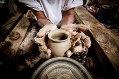Molding clay pots Royalty Free Stock Photos