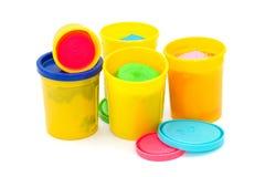 Molding dough for children on white Stock Photography