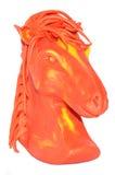 Molding horse plasticine model Royalty Free Stock Photo
