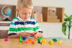 Molding from plasticine Stock Images