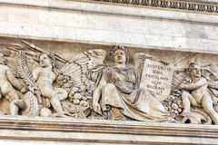 Moldings on the Arc de Triomphe. Paris. France. Royalty Free Stock Image