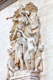 Moldings on the Arc de Triomphe. Paris. France. Stock Images