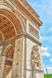 Moldings and decorations on the Arc de Triomphe in  Paris. Franc. E Royalty Free Stock Photos
