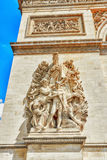 Moldings and decorations on the Arc de Triomphe in  Paris. Franc. E Royalty Free Stock Photography