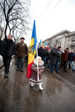 Moldova - Anti-government demonstraties Royalty-vrije Stock Foto