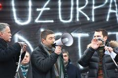 Moldova - Anti-government demonstraties Stock Foto