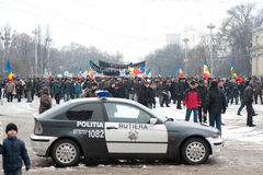 Moldova - Anti-government demonstration march. Royalty Free Stock Images