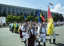 Moldova, Chisinau, Dia da Independência, quadrado do conjunto nacional, n Imagens de Stock Royalty Free