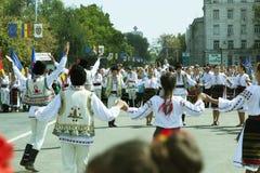 Moldova, Chisinau, Dia da Independência, quadrado do conjunto nacional, n Fotos de Stock