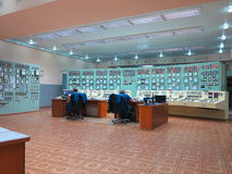 13.05.2016, Moldova, Control panel room at electric power genera Stock Photography