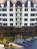 10 10 2015 moldova Exposición de las propiedades inmobiliarias Detalle del bea de la maqueta Imágenes de archivo libres de regalías