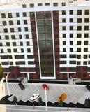 10 10 2015 moldova Exposición de las propiedades inmobiliarias Detalle del bea de la maqueta Foto de archivo