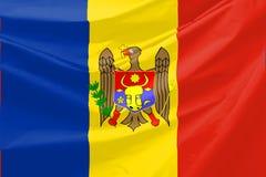 Moldova Flag. Wavy and realistic Moldova Flag Royalty Free Stock Image