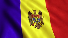 Moldova Flag Animation Video - 4K stock video footage