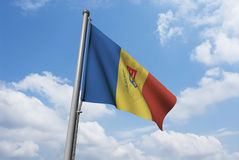 Moldova Flag with Clouds Royalty Free Stock Images