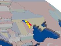 Moldova with flag Stock Image