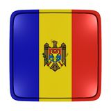 Moldova flag icon. 3d rendering of a Moldova flag icon. Isolated on white background Royalty Free Stock Photography