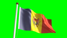 Moldova flag stock video