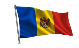 Moldova flag. A series of `Flags of the world.`  The country - Moldova flag Stock Photography