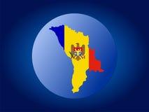 Moldova globe Royalty Free Stock Image
