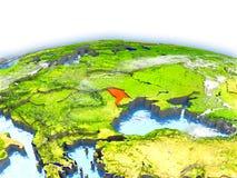 Moldova on globe Stock Photos