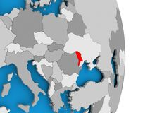 Moldova on globe Stock Photography