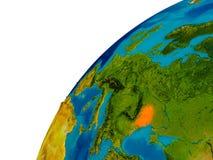 Moldova on globe Royalty Free Stock Photo