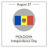 Moldova Independence Day, August 27 Stock Photos