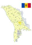 Moldova map - cdr format Royalty Free Stock Image