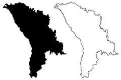 Moldova map vector Stock Photos