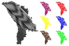 Moldova map vector Stock Photography