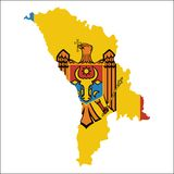 Moldova, Republic of high resolution map with. Royalty Free Stock Image