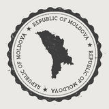 Moldova, Republic of hipster round rubber stamp. Royalty Free Stock Photo