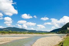 Moldova river in the summer. Northern of Romania Royalty Free Stock Photography