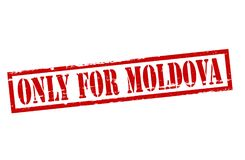 Only for Moldova. Rubber stamp with text only for Moldova inside,  illustration Stock Photos