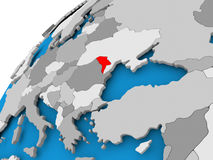 Map of Moldova in red Stock Photography