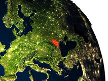 Moldova from space Stock Photography