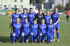 Moldova women's national football team Royalty Free Stock Photography