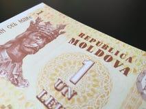 Moldovan leu, close up of Moldova paper bank note Royalty Free Stock Photos