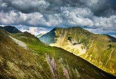 Moldoveanu peak in Romania Stock Photo