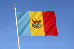 Moldovia的旗子 库存图片