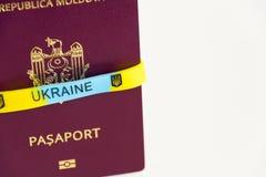 Moldovisch paspoort M.D.paspoort Royalty-vrije Stock Afbeelding