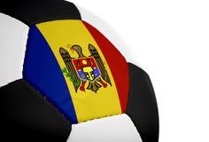Moldovische Vlag - Voetbal Stock Fotografie