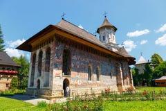 Moldovita修道院,其中一个著名被绘的修道院在罗马尼亚 库存图片