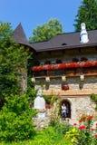 Moldovita修道院,其中一个著名被绘的修道院在罗马尼亚 图库摄影
