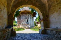 Moldovita修道院,其中一个著名被绘的修道院在罗马尼亚 免版税库存照片